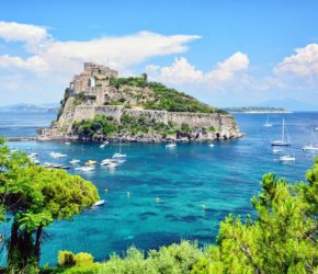 Ischia island, at the Gulf of Naples, Italy