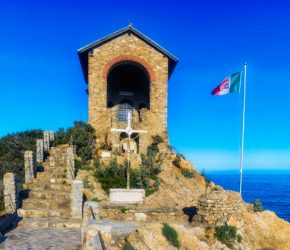 The small church in Alassio, a town in the province of Savona situated in the western coast of Liguria (Riviera di Ponente), Northern Italy, known for its sandy beaches, blue sea and natural and scenic views.