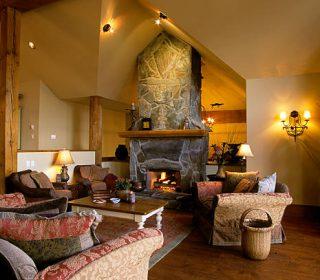 luxury chalet estate home living room whistler